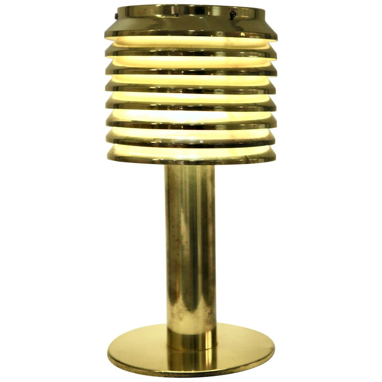 Hans-Agne Jakobsson, Table Lamp in Brass, Model B 142, Sweden 1960s