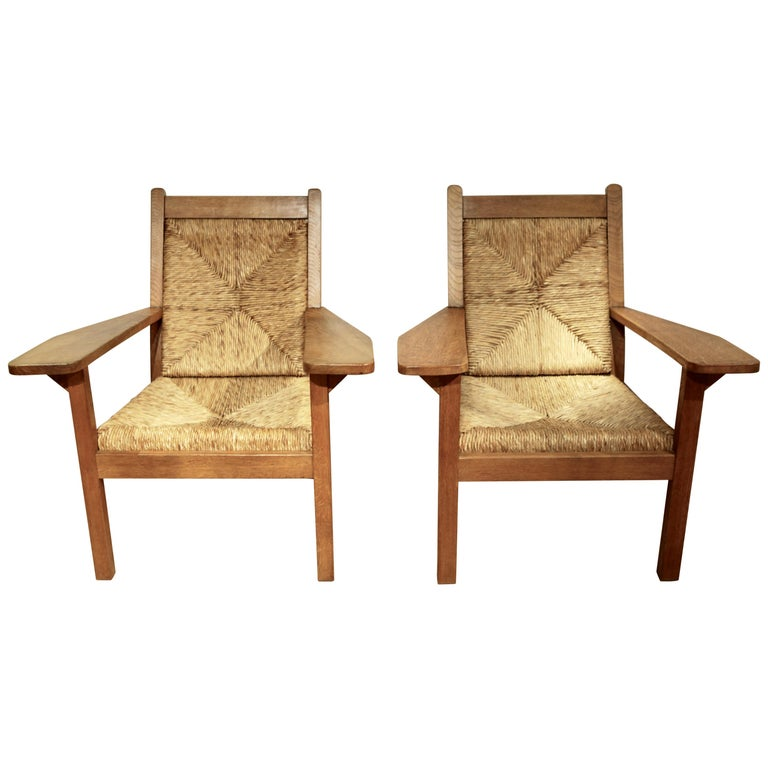 Willi Ohler, Pair of Arts & Crafts Armchairs, Germany 1920s