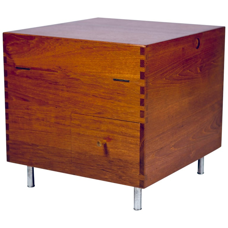Hans J. Wegner, Minibar, Model No. AT34 in Teak, 1959