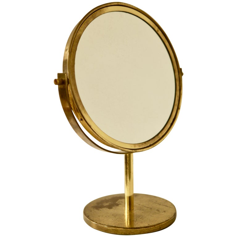 Hans-Agne Jakobsson, Brass Table Mirror, 1960s