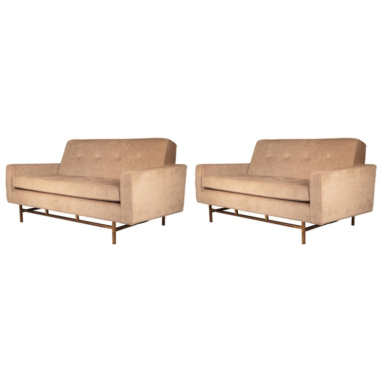 Harvey Probber, Pair of Sofas, USA 1940s.