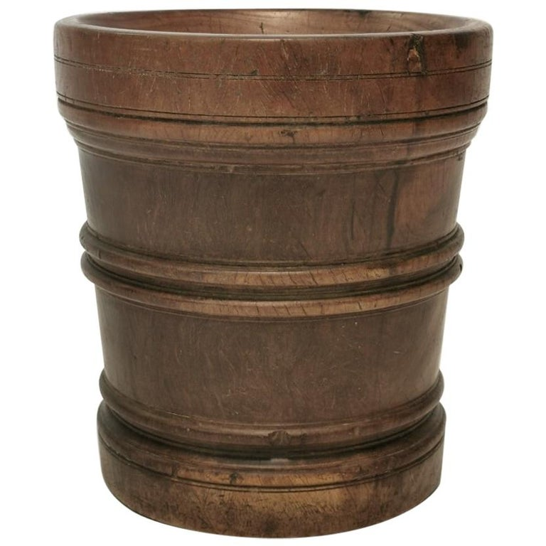18th Century Queen Anne Period Lignum Vitae Mortar.