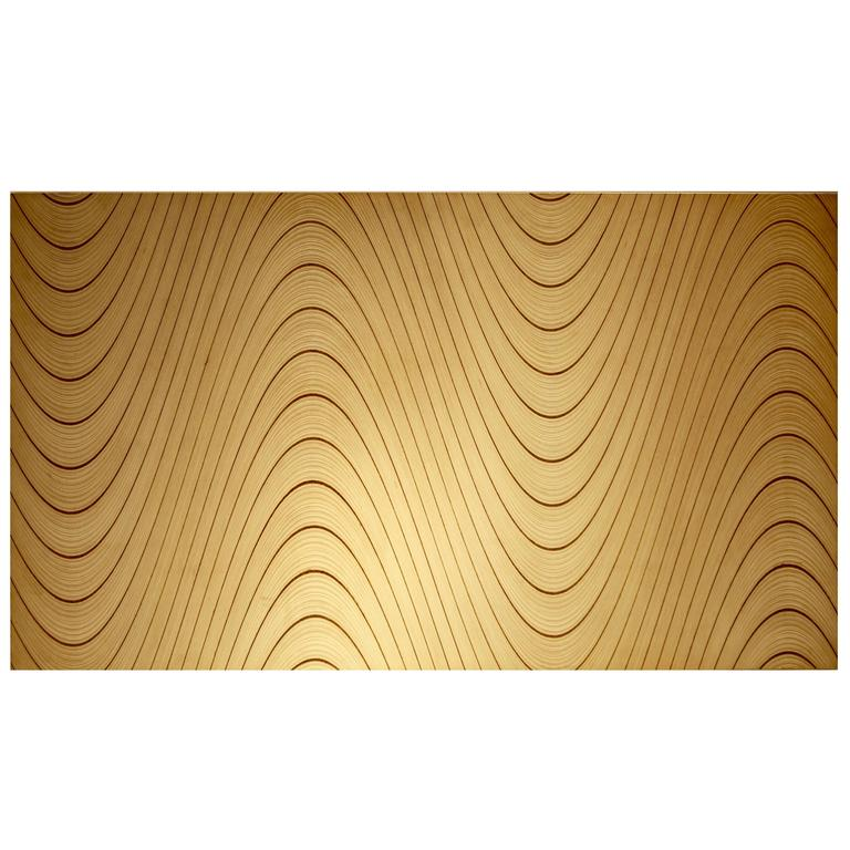 Tapio Wirkkala, Rhythmic Plywood, Wall Panel, Finland 1958.