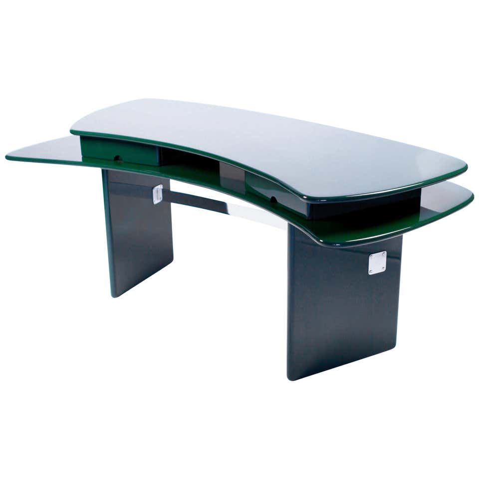 Luigi Caccia Dominioni, Sciabola Desk SCR7 in Dark Green, Edition Azucena 1979.