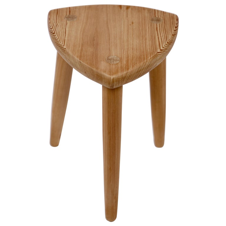 Swedish Modernist Designer,Pine Stool, 1950s