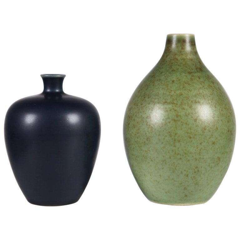 """Erich & Ingrid Triller, """"Tobo"""" Vases, Sweden 1950s."""